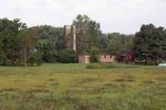 Un site abandonné de ferme Images libres de droits