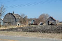 Un sito dell'azienda agricola di Abandonded Minnesota Fotografia Stock Libera da Diritti