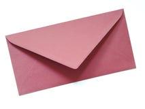 Un sobre rojo aislado imagen de archivo libre de regalías