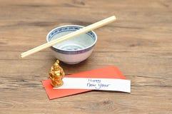 Un sobre rojo para el dinero en el Año Nuevo chino Foto de archivo libre de regalías