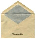 Un sobre ruso soviético de la vendimia aislado, Fotografía de archivo