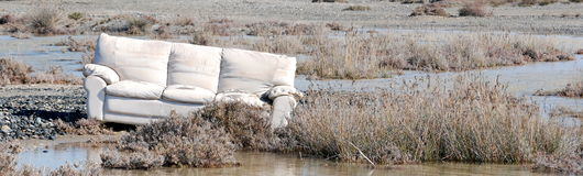 Un sofá en naturaleza Imagenes de archivo