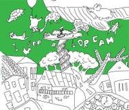 Un sogno in cui, invece delle nuvole che pilotano gli animali Fotografie Stock