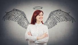 Un sogno di angelo Immagini Stock