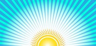 Salida del sol inferior de Sun Fotos de archivo libres de regalías