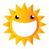 Sol sonriente de la historieta Imagen de archivo