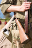 Un soldado preparado Imagenes de archivo