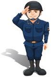 Un soldat heureux illustration de vecteur