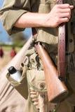 Un soldato pronto Immagini Stock
