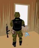 Un soldato solo Fotografie Stock Libere da Diritti