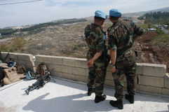 UN Soldiers Lebanon Stock Photo