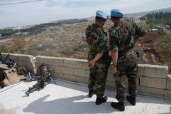 UN Soldiers Lebanon Stock Photo