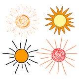 Un sole di estate Fotografia Stock Libera da Diritti