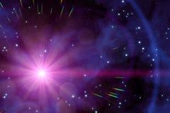 un sole sconosciuto nello spazio profondo illustrazione vettoriale