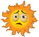 Un soleil avec un visage Photographie stock libre de droits