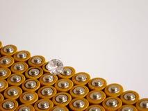 Un solo diamante del poder de batería positivo fotos de archivo libres de regalías