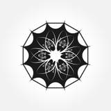 Un solo elemento floral abstracto Logotipo, símbolo, flor dodecahed ilustración del vector