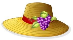 Un sombrero de moda con una fruta ilustración del vector