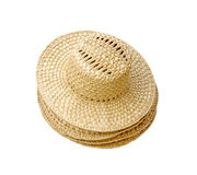 Un sombrero de paja amarillo Imagen de archivo libre de regalías