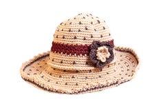 Vare el sombrero aislado en el fondo blanco con la trayectoria de recortes. Foto de archivo