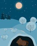 Un sonno sveglio dell'orso illustrazione vettoriale