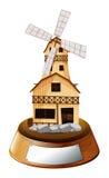 Un soporte del trofeo con una casa de madera libre illustration