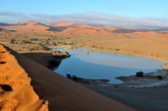 Un Sossusvlei inundado en el desierto de Namib Imágenes de archivo libres de regalías