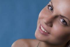 Un sourire d'un femme Photos libres de droits