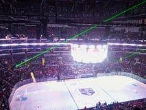un stadion de hockey sur glace images libres de droits