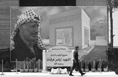 Un standig de los soldados en ramallah. Fotografía de archivo libre de regalías