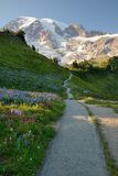 Un stationnement national plus pluvieux de montagne Photo libre de droits