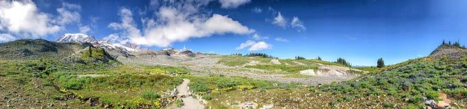 Un stationnement national plus pluvieux de support, Washington Vue panoramique dans le summe Photos libres de droits