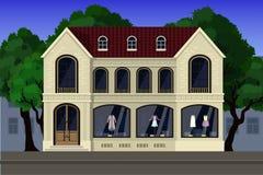 Un stock d'habillement d'élite, situé sur le premier étage de la maison dans un style classique illustration libre de droits