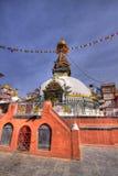 Un stupa antiguo y capillas Katmandu Fotos de archivo libres de regalías