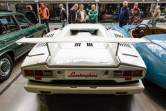 Un supercar mediados de-engined Lamborghini Countach LP 25to Anniversary, 1990 Fotografía de archivo