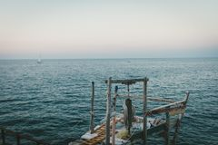 Un support de fisherman's photo stock