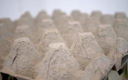 Un supporto del cartone di 30 uova ha fotografato poco prima la mezzanotte Fotografie Stock