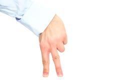 Un supporto di due dita gradisce l'essere umano Immagini Stock