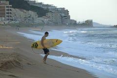 Un surfista, Durban Fotografie Stock Libere da Diritti