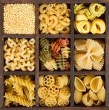 Un surtido de pastas italianas Fotografía de archivo