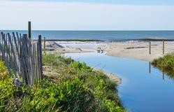 Un swale en la playa Imágenes de archivo libres de regalías