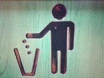 Un symbole de bac à ordures Photographie stock libre de droits