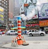 Un système de vapeur dans NYC photo libre de droits