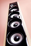 Un système sonore puissant. photos stock