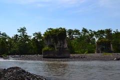 Un témoin silencieux d'un des ponts de Tempeh, Lumajang, Java-Orientale photos libres de droits