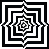 Un túnel blanco y negro de la relevación Ilusión óptica imagenes de archivo