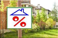 Un tabellone per le affissioni che annuncia la vendita del bene immobile Fotografie Stock Libere da Diritti