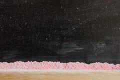 Un tableau noir avec la craie Photographie stock