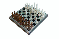 Un tablero de ajedrez Fotografía de archivo libre de regalías