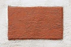 Un tablero de madera con la pintura vieja Imagenes de archivo